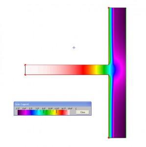Thermografie Wand mit Innendämmung