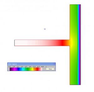 Thermografie Wand mit Außendämmung