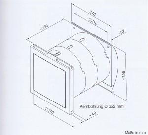 Wand-Einbaugerät, Quelle: Helios Ventilatoren