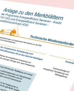 Technische Mindestanforderungen der KfW