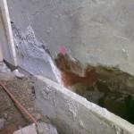 Bau der Sperrschicht aus hydraulisch dichtem Beton, Foto: O. Matthaei 2012