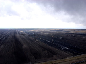 Mondlandschaft Braunkohle-Tagebau