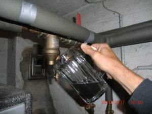Spülen eines Heizungsfilters