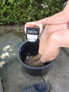 Abkühlung mit Wasser