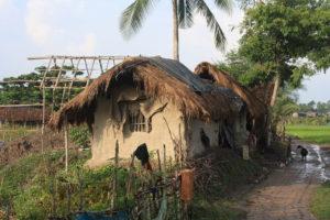 Lehmhaus in Indien